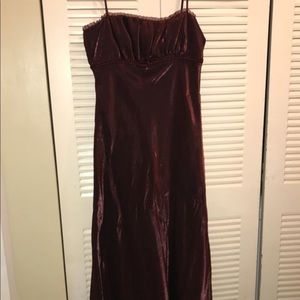 Bridesmaids Gown Burgundy Wine